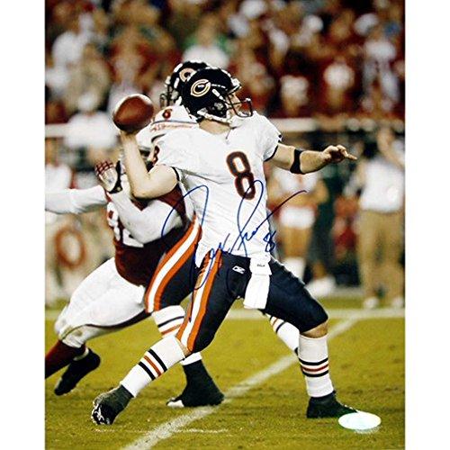 Rex Grossman Autographed Football - Rex Grossman Autographed Throw Vs. Arizona 16x20 Photograph Sports Football