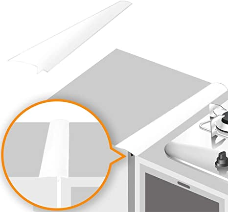 Long Gap Filler Heat Resistant Slit Filling Seals OURLITIME 2PCS Kitchen Silicone Stove Counter Gap Cover Silicone Kitchen Stove Counter Gap Cover Long