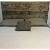Queen Ebony Rustic, Chic Wood Headboard