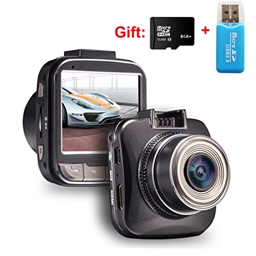 Pandoo G50 Car DVR with 8GB 10class TF T-flash card Novatek 96650 1080P Dash Cam 30fps 2.0Inch 4X Digital Zoom 170 Degree Wide Angle WDR Motion Detection G-sensor recorder record