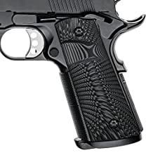 1911 Full Size G10 Grips, Magwell Cut ,Big Scoop, Ambi Safety Cut, Sunburst Texture, Cool Hand Brand
