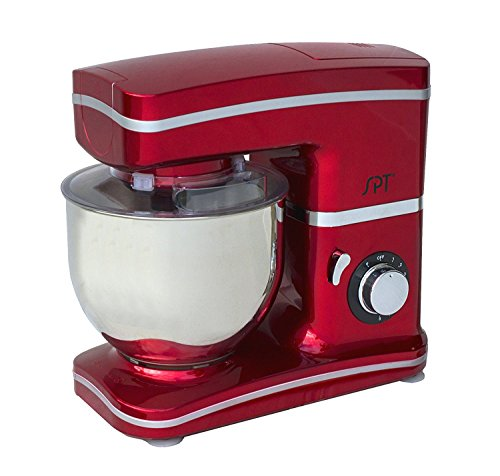 SPT MM-106R 8-Speed Stand Mixer, , Red