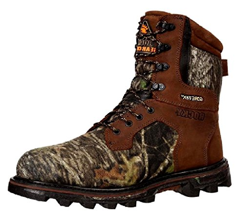 """Rocky Men's 9275 BearClaw 3D 9"""" Boot Brown Leather/Camo T..."""