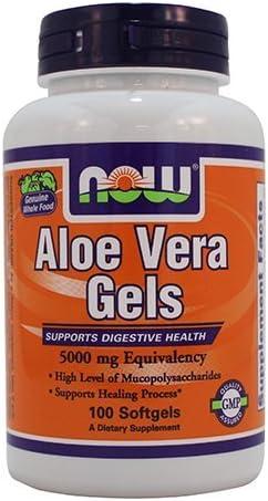 Now Foods Aloe Vera 5000 mg - 100 Softgels 6 Pack