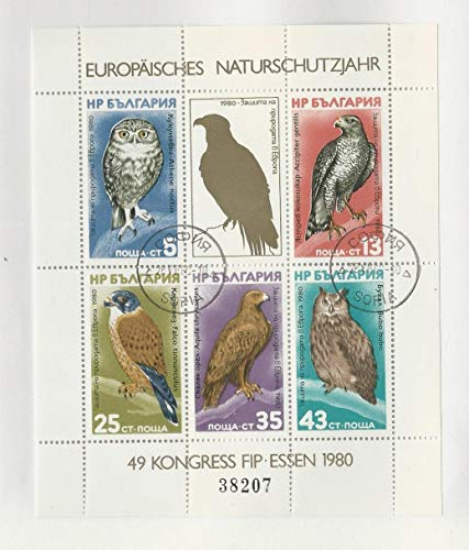 Bulgaria, Postage Stamp, 2705a Used Sheet, 1980 Birds Europa, JFZ
