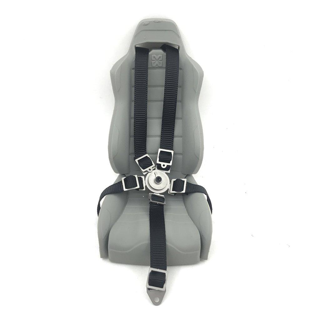 Rot 1 Paar 1//10 Dekoration Zubeh/ör Simulation Autositz G/ürtel Sicherheitsgurt f/ür 1//10 Axial Wraith 90018 Autositz RC Crawler Car