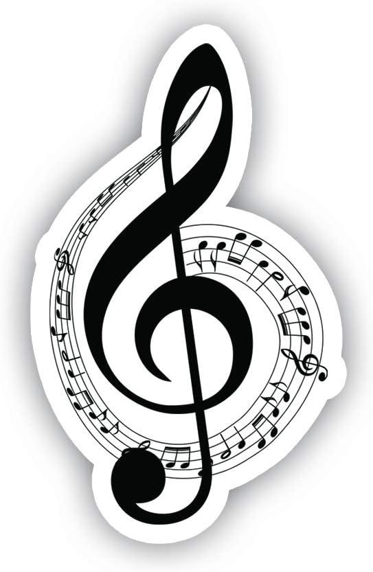 "Musical Notes Sticker Car Decal Vinyl Sticker - Vinyl Decal - Car, Bumper, Laptop, Decor, Window Vinyl Decal Sticker - (4"" Vinyl Decal)"