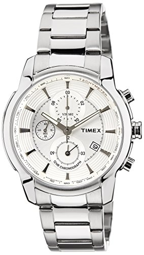 Timex E Class Analog Silver Dial Men #39;s Watch   TW000Y500