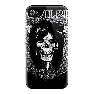 New RuPkeXL2628PtSuR Black Veil Brides Tpu Cover Case For Iphone 4/4s