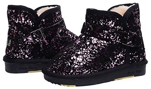 Cotton Purple Boot Sneaker Black Fashion Boys Lined Choice Multiple Thickened Fur Light Non Pointss Boot Snow Slip Leather Ankle Girls Low Shoe Winter zB1w6U