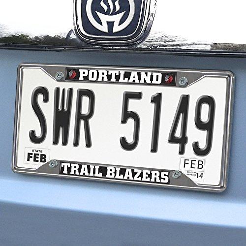 - FANMATS NBA Portland Trail Blazers Chrome License Plate Frame