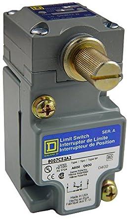 Square D 9007 C52 N Heavy Duty NEMA interruptor de límite, tamaño ...