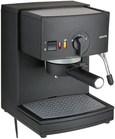 Krups R984-43 Factory-Reconditioned Espresso Novo 2000 Plus Pump Espresso Machine, Black, DISCONTINUED