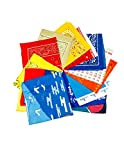 New Bandana Set Pack of 100 Assorted Light Colors Bandanas (.60 per piece) Liquidation sale