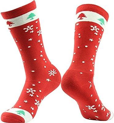 Christmas Fluffy Socks Winter Unisex Cosy Present Gift Sowflake Elf Stripes