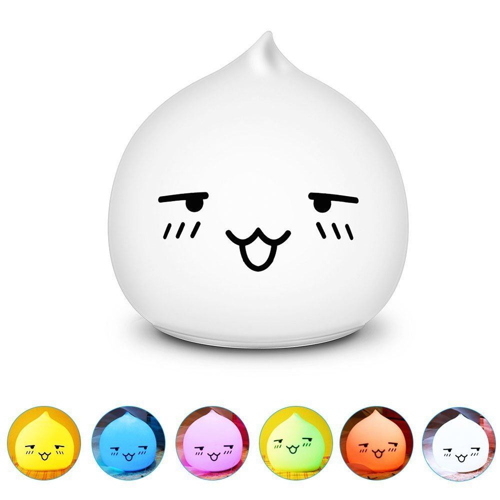 Silicone Soft Animal Multicolor Night Light Nursery Lamp for Children Toddler Boys Girls Gift (Remote Control, Dorky Drop Water) by Gooplayer (Image #3)