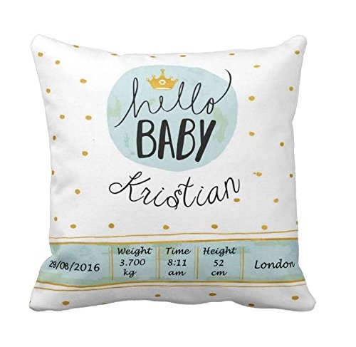 Personalized baby pillow birth announcement pillow new baby gift personalized baby pillow birth announcement pillow new baby gift baby girl birth negle Gallery