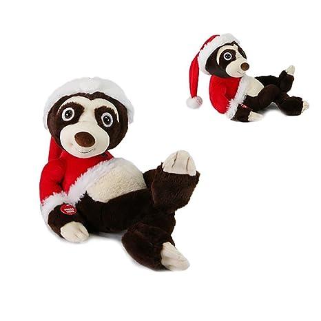 Christmas Sloth.Amazon Com 13 Singing Animated Christmas Plush Sloth