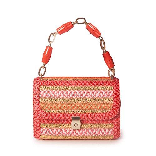 Eric Javits Luxury Fashion Designer Women's Handbag - St. Barths - CoralMix by Eric Javits