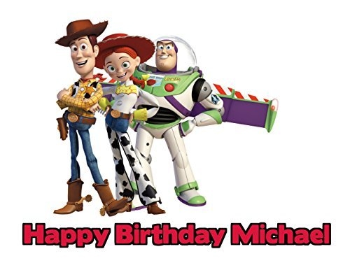 (Toy Story Edible Image Photo Cake Frosting Icing Topper Sheet Personalized Custom Customized Birthday Party - 1/4 Sheet -)