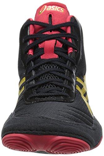 Zapato de lucha JB Elite V2.0 para hombre, Negro / Oro ol¨ªmpico / Rojo, 9 M US