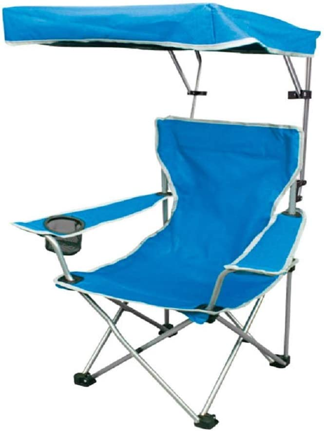 Quik Shade Folding Canopy Shade Camp Chair for Kids with Carry