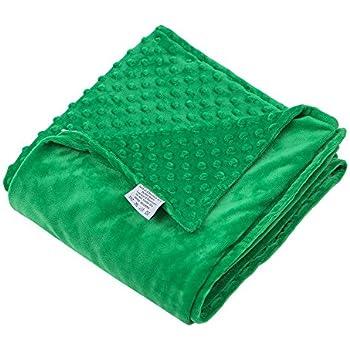 hiseeme removable duvet cover for weighted blanket green super soft dot minky. Black Bedroom Furniture Sets. Home Design Ideas
