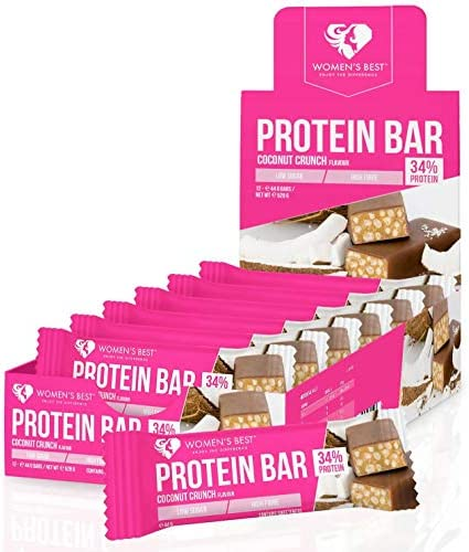 Womens Best Protein Bar, 12 x 44 g Riegel Coconut Crunch