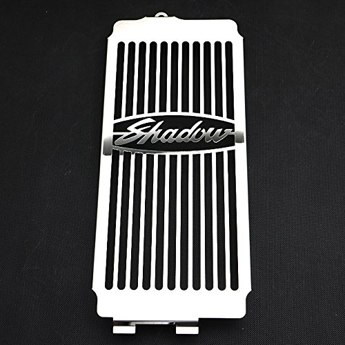 Motorparty Radiator Grill Cover Water Tank Grille Guard Protector For Honda Shadow VT750 ACE 1997-2003 VT 750 Spirit 2001-2008 2007 2006 2005 2004 2003 2002 1999 1998,Stainless Steel,Shadow Pattern by Motorparty (Image #1)
