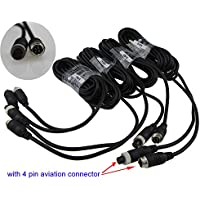 Auto Rover 5M 4Pin Aviation Connector Video Audio Extend Cables for Car Vehicle Backup Camera /DVR 4Pcs