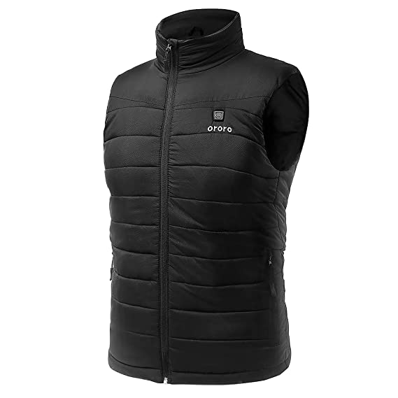 83e81338a08 Amazon.com: ORORO Men's Lightweight Heated Vest with Battery Pack: Clothing