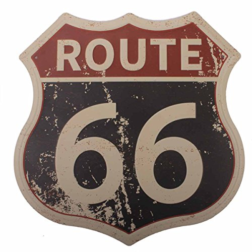 HANTAJANSS Route 66 Signs Vintage Road Signs for Home Decoration 11.5