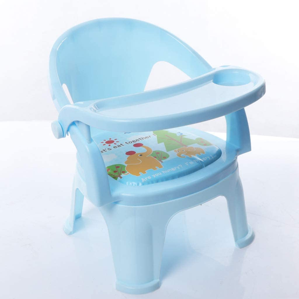 Home Toddlers Dining Booster Booster Seat with Tray for Baby Folding Portable High Chair Small Chair Bench Toddlers Eating Table Children 1-5 Years Old,Blue