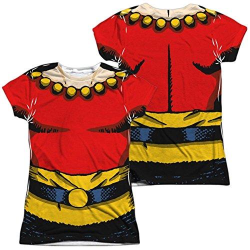 Juniors: Flash Gordon- Flash Costume Tee (Front/Back) Juniors (Slim) T-Shirt Size XXL (Flash Gordon Kids Costume)