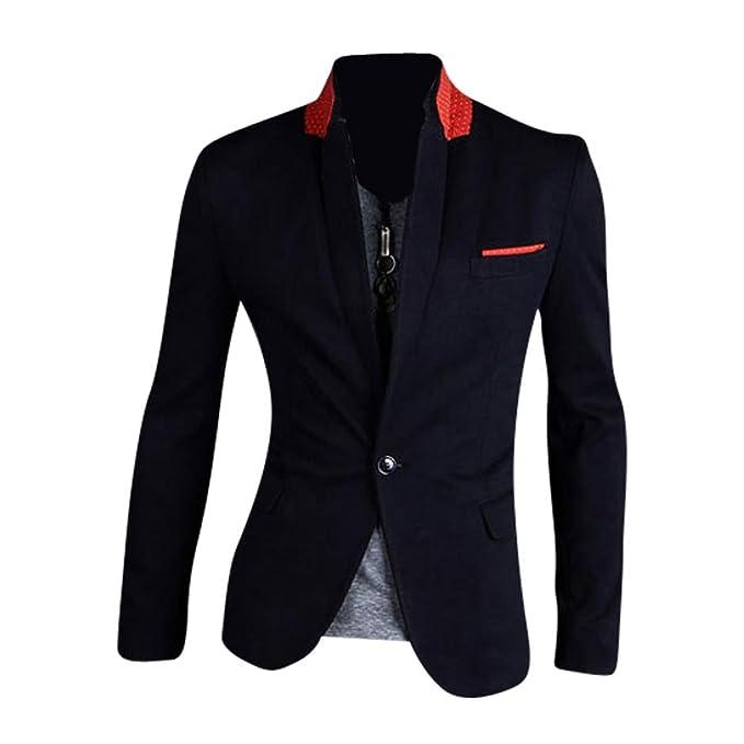 Jeansian Moda Chaqueta Traje Blusas Chaqueta Hombres Mens Fashion Jacket Outerwear Tops Blazer 8981: Amazon.es: Ropa y accesorios