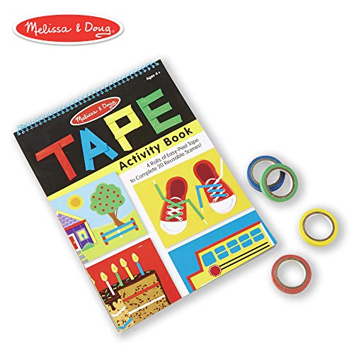 Melissa & Doug Tape Activity Book (Early Learning Skill Builder, 4 Rolls of Easy-Tear Tape, Sturdy Plastic Binding, 20 Pages)]()