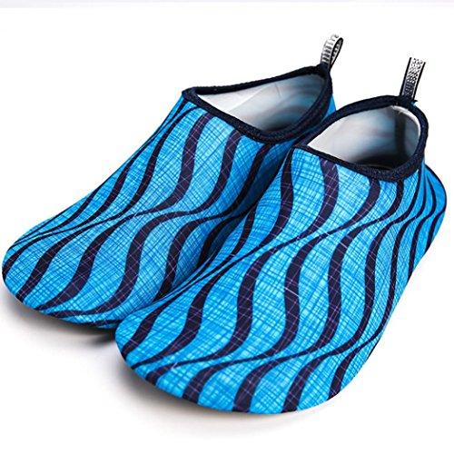 FNKDOR Damen Surfschuhe Sohlen C mit Herren Kinder Aquaschuhe Schwimmschuhe Rutschfeste Strandschuhe Atmungsaktiv Wasserschuhe 6rxqg6aw