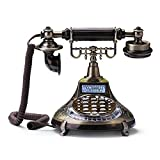 Fashion Home ZHILIAN Retro Telephone Corded European Style Office Landline Button Dial Creative