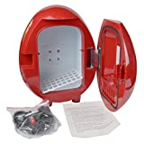Appliances : SMETA Countertop Mini Refrigerator 12V Auto Car Truck Cooler Warmer Cooling and Heating Fridge,4L,Red