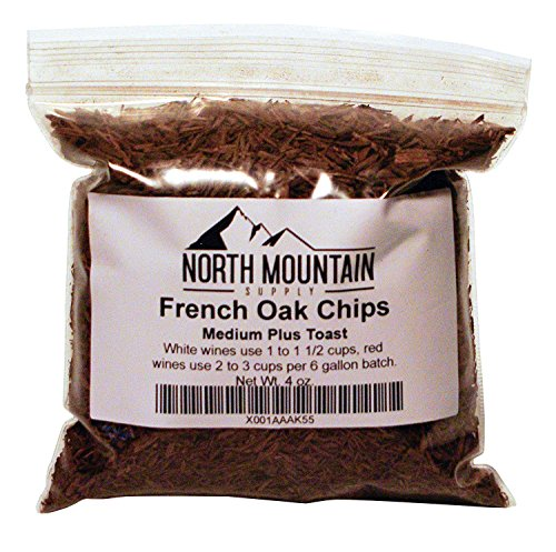 North Mountain Supply French Oak Chips (Medium Plus, 4 Ounce) ()