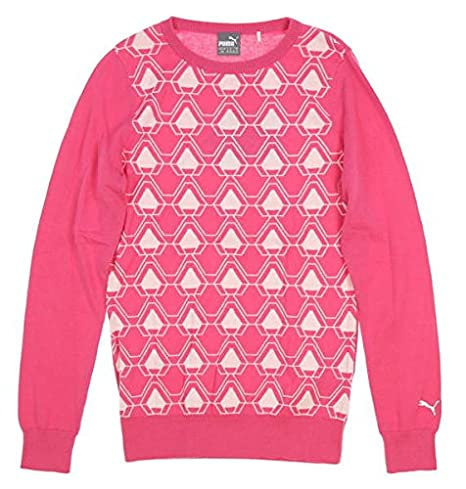 e2a4bd4dea8 Image Unavailable. Image not available for. Color  PUMA New Womens 2018  Dassler Sweater Small S Carmine Rose ...