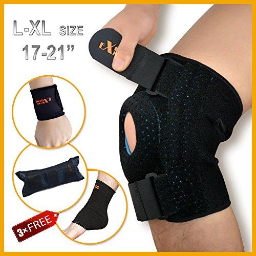Motion Infiniti Open Patella Knee Brace Support, X-Large - Black