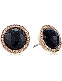 Womens Shimmer Glass Stone Studs Earrings
