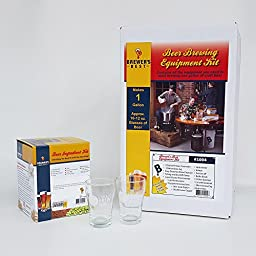 Brewer\'s Best One Gallon Beer Equipment Kit with Ingredients and Two Chicago Brew Werks Tasting Glasses – Porter