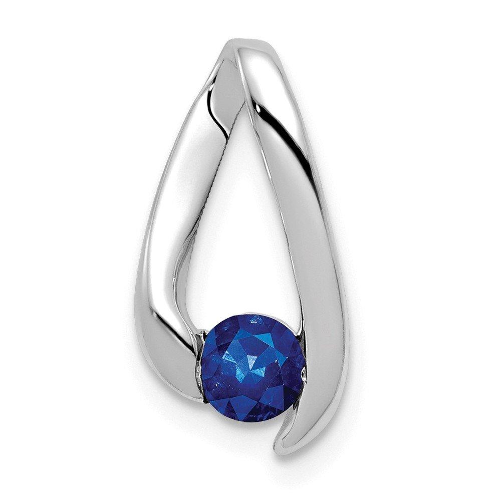 Mia Diamonds 14k White Gold 4mm Sapphire Pendant