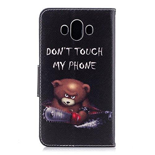 protection magnétique avec portefeuille étui d'impression conception pour carte PU en Mate support de cuir aérosol Huawei avec peint Flip fermeture en fente Bear 10 cas Hozor vwaHRqn