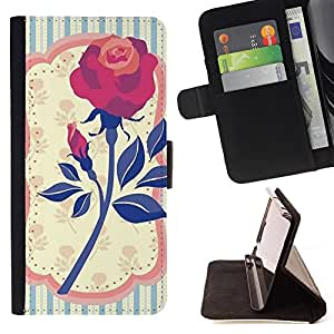 King Case - FOR Samsung Galaxy A3 - ?flowering is past. - Prima caja de la PU billetera de cuero con ranuras para tarjetas, efectivo Compartimiento desmontable y correa para la mu?eca