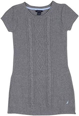 Nautica Girls' Sweater Dress with Cable Detail