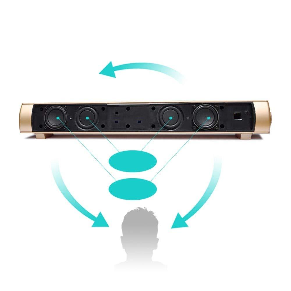 CAOQAO Estéreo Sound Blaster Barra de sonido inalámbrica para TV ...