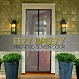 Eezy Breezy Magnetic Screen Door with Mesh and Tight Multi-Magnet Seal, 34 x 82 Inch